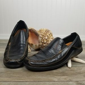 Cole Haan black leather driving shoes mocs Sz 9.5
